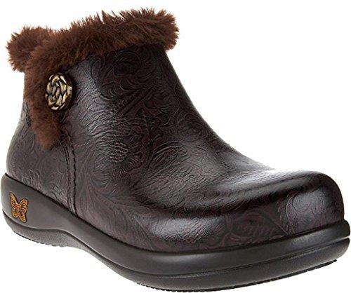 Alegria Womens Meri Synthetic Fur Rain Boot Molasses Tooled Size 37 M EU (7-7.5 M US Women)