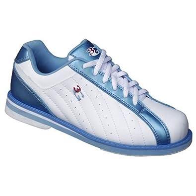3G Women's Kicks Bowling Shoes (9.5 White/Blue)