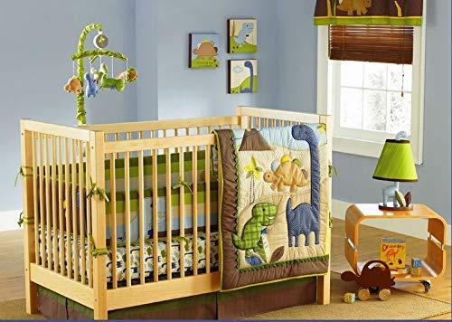 MD Baby Boy Dinosaur 7 Pieces Nursery Crib Bedding Set with Bumper [並行輸入品]   B07HLGC2B6