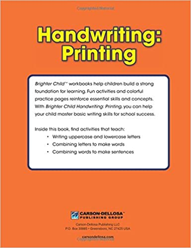 Handwriting: Printing Workbook (Brighter Child: Grades K-2 ...