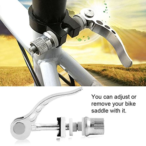 (Baynne Road Bike Bicycle Cycle Quick Release Seat Saddle Post Clamp Mount Adapter)