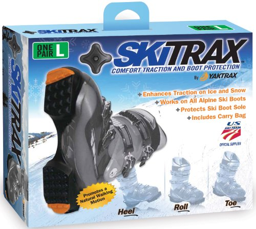 Yaktrax SkiTrax Ski Boot Tracks Traction and Protection Cleats (1 Pair)