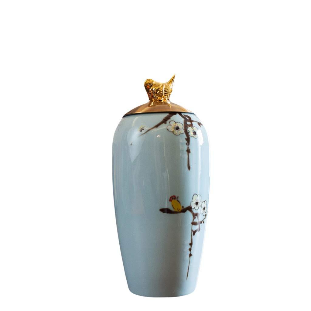 MAHONGQING 花瓶新しい中国風のリビングルームセラミック花瓶セット飾り装飾ヨーロッパ家庭用テレビキャビネットドライフラワーフラワーアレンジメント (Size : M) B07S35QL72  Medium