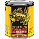 1 Quart Cabot Stains 3459 Australian Timber Oil, Mahogany Flame