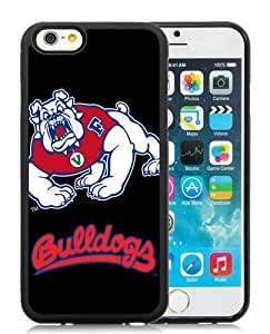 NCAA Mountain West Conference MWC Football Fresno State Bulldogs 4 Black Custom Phone Shell iPhone 6 4.7 Inch Silicone TPU Case Cool Design