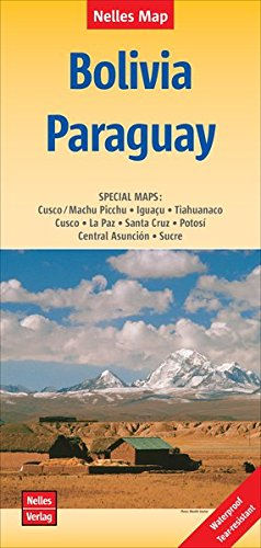 Bolivia, Paraguay MAP (English and Spanish Edition)