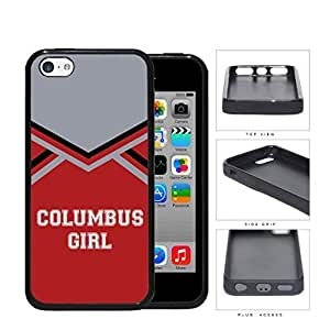 MMZ DIY PHONE CASEColumbus City Girl School Spirit Cheerleading Uniform iphone 4/4s Rubber Silicone TPU Cell Phone Case