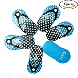 Spove Shoe Polka Dot Flip Flop Design Manicure Kit Shape Personal Care Manicure Set pack of 6 Blue