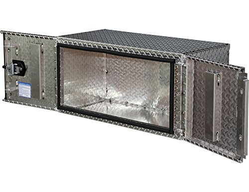 Buyers Products Diamond Tread Aluminum Underbody Truck Box w/Barn Door (24x24x48 Inch) by Buyers Products (Image #1)