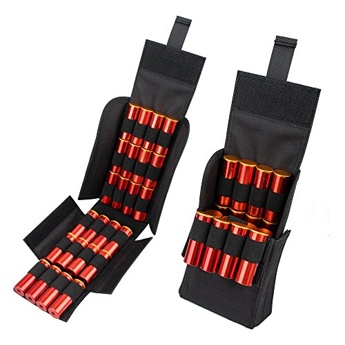 Kosibate HOT 25 Round Shotgun Shotshell Reload Holder Molle Pouch For 12 Gauge/20G (Tactical 12 Gauge)