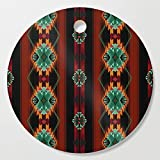 Society6 Wooden Cutting Board, Round, southwest classic spin by designlunatic