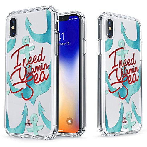 (True Color Case Compatible with iPhone Xs Max Case - Clear Shield I Need Vitamin Sea Quotes on Clear Case Compatible with iPhone Xs Max)