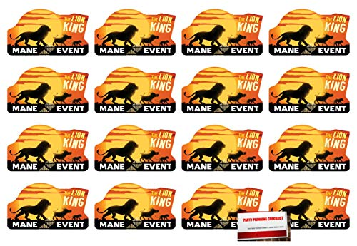 (16 Pack) The Lion King Postcard Style Party Invitations with Envelopes, Seals and Save The Date Stickers (Plus Party Planning Checklist by Mikes Super Store)