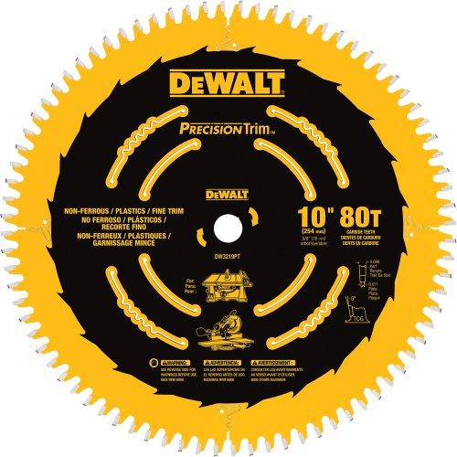 DEWALT DW3219PT 10-Inch 80T Fine Crosscutting Saw Blade