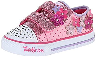 amazoncom skechers kids 10472n pretty blossoms lightup