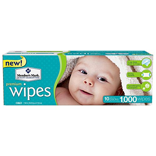 Value Box Wipes Baby - Member's Mark Premium Baby Wipes, 1000 ct. (10 packs of 100)