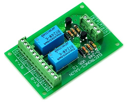 ELECTRONICS-SALON Two DPDT Signal Relay Module Board for PIC Arduino 8051 AVR. DC24V Version