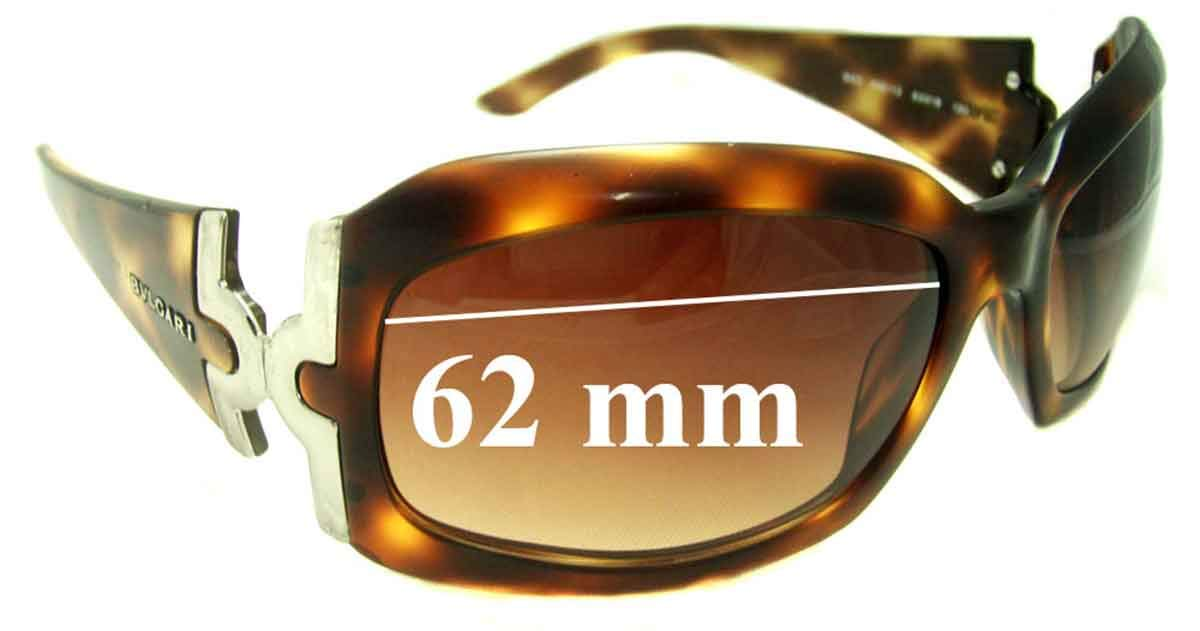 SFX Replacement Sunglass Lenses fits Bvlgari 860 62mm Wide