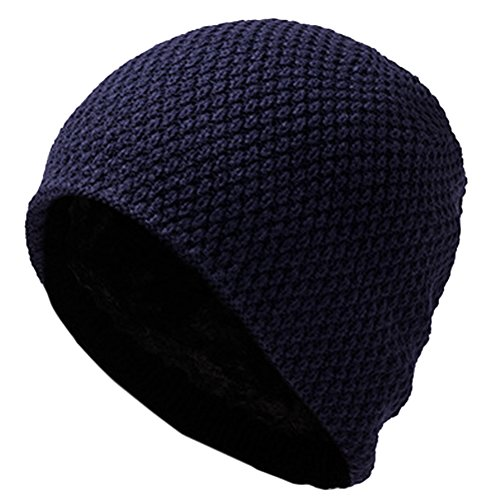 Azul las Cabeza Orejas Sombrero Punto Tosado Invierno de oscuro ROBO Proteger Turbante pqxUwavS
