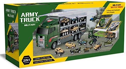 JOYIN 6 In 1 Die-Cast Police Patrol Construction Truck Mini Battle Car Toy Set