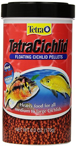 Tetra TetraCichlid Floating Cichlid Pellets, 6.0-Ounce