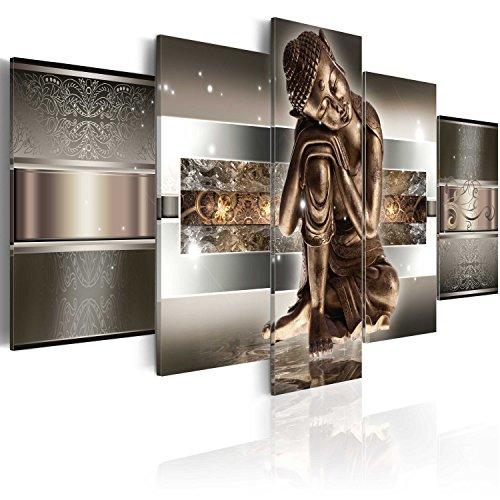 formato grande impresion en calidad fotografica 5 partes buddha cuadro 020113 289 200x100 cm gran variedad de cuadros y impresos artsticos en - Cuadros Originales