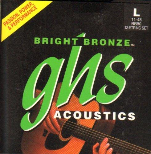 GHS 12-string Bright Bronze Lite 11-48 BB80