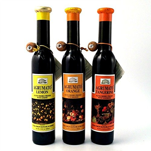 Oil Agrumato Olive Lemon - Agrumato Lemon, Tangerine, Orange, Extra Virgin Olive Oil Gift Set