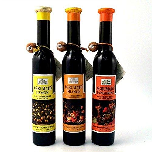 Olive Oil Lemon Agrumato - Agrumato Lemon, Tangerine, Orange, Extra Virgin Olive Oil Gift Set