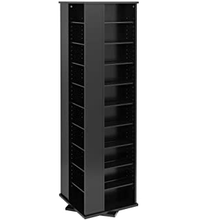 Beau Prepac Large Four Sided Spinning Tower Storage Cabinet, Black