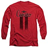 Chevy Camaro Stripes Mens Long Sleeve Shirt Red Md