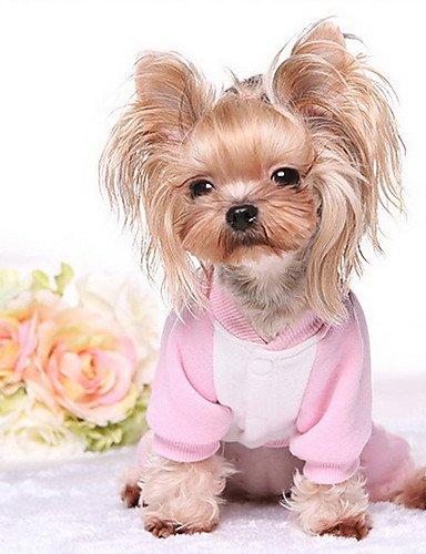 Cani cappottini blu rosa abbigliamento per cani inverno cartoni