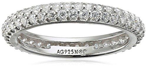 Myia Passiello Colors Swarovski Zirconia Clear Slim Stackable Ring Size 6 -