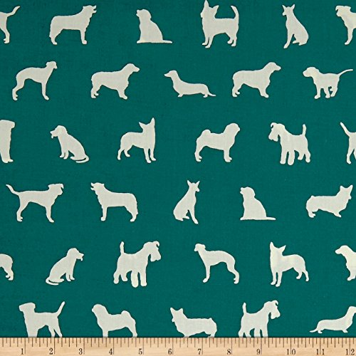 Birch Organic Farm Fresh The Show Teal Fabric By The Yard (Farm White Birch)
