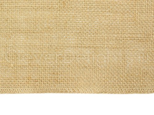 CleverDelights 60'' Premium Burlap Roll - 20 Yards - No-Fray Finished Edges - Natural Tight Weave Fabric by CleverDelights (Image #1)