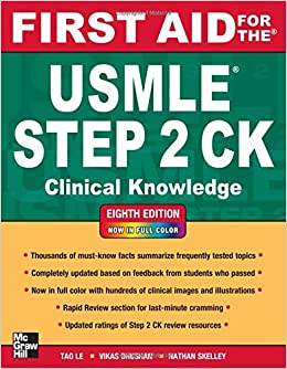 Amazon first aid for the usmle step 2 ck eighth edition tao amazon first aid for the usmle step 2 ck eighth edition tao le vikas bhushan livres fandeluxe Choice Image