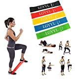 Resistance Bands Exercise Bands Fitness Loop Excersize Bands Set Mini Bands Workout Ankle Weights Leg Arms for Stretching Physical Therapy Yoga Cross-Fit and Home Fitness Training for Women&Man-12″