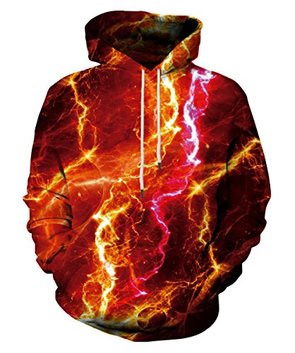 - Neemanndy Unisex 3D Printed Hooded Sweatshirt Casual Pullover Hoodies with Big Pockets, XX-Large