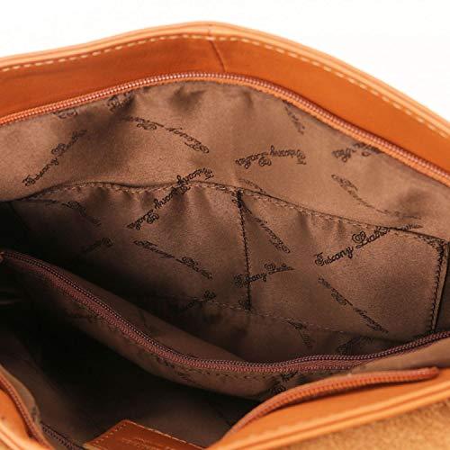 Scuro A Nappa Morbida Tracolla Talpa Leather Tuscany Con Beige Borsa Tlbag qUWwPna4z