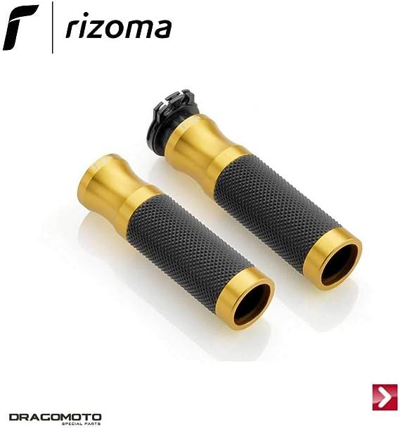 Rizoma Motorradgriffe Lenkergriffe Sport Alu Für 22mm Gr205g Gold Unisex Multipurpose Ganzjährig Aluminium Auto