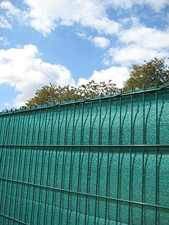 Sichtschutz Zaun Hdpe Grun 120 Cm X 500 Cm Ral 6005 Amazon De Garten