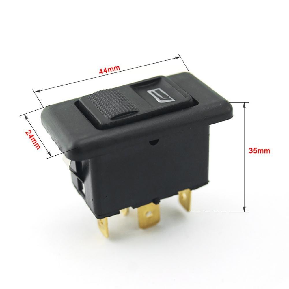 20 A universal 5 pines Botó n Elevalunas Interruptor Palanca Control de ventana de transmisió n Easy-topbuy123