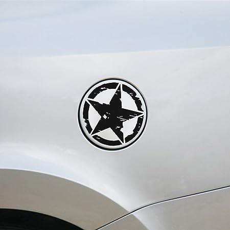 Merssavo 1 Pc Pegatinas de Pentagrama Calcomanías Adhesivas Militares del Coche de la Estrella- Negro: Amazon.es: Coche y moto