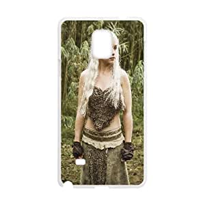 Daenerys Targaryen Game Of Thrones Tv Show Samsung Galaxy Note 4 Cell Phone Case White yyfabc_169350