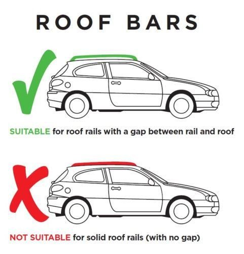 M.Way NNRB1040.67 120mm UNVERSAL CAR ROOF AERO Bars Rack Aluminium Locking Cross Rails