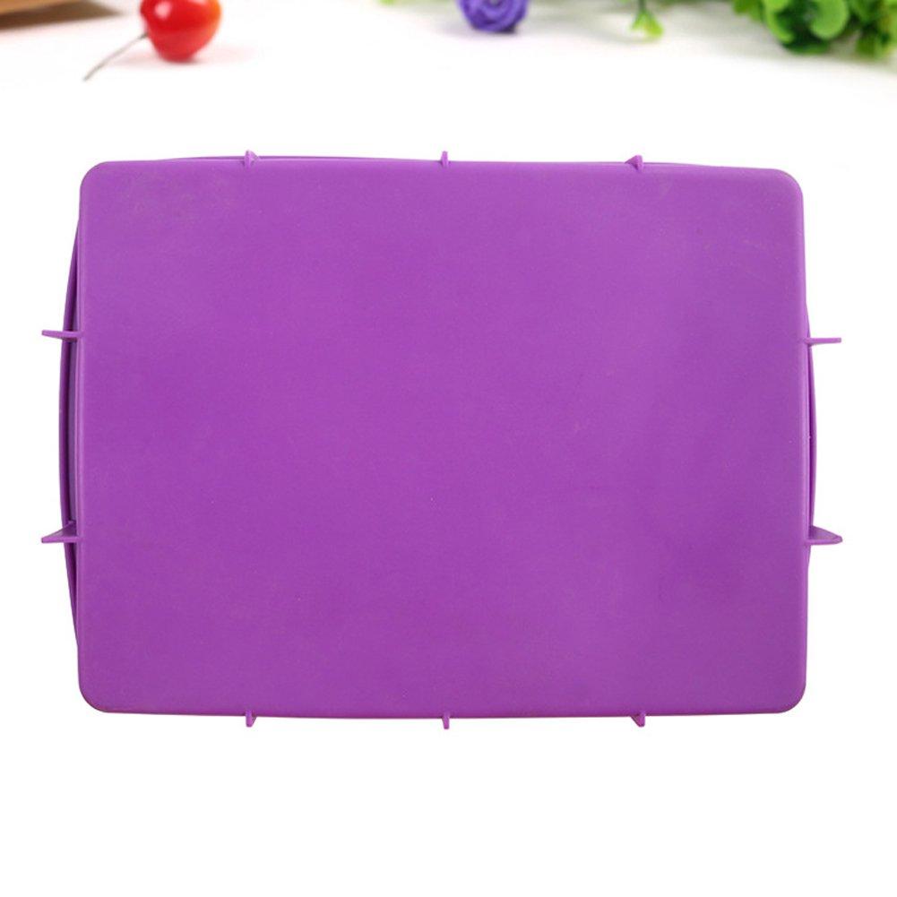 Purple CV5385 NYKKOLA Silicone Rectangular Cake Pans Easy Demoulding,Non-Stick European-Grade Silicone