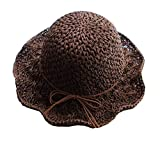Elegant Lady Summer Straw Hat Beach Hat Wide Brim Hat Topper for Outdoor