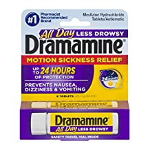 Dramamine Motion Sickness Relief Tablets Less Drowsy Formula - 8 Tablets