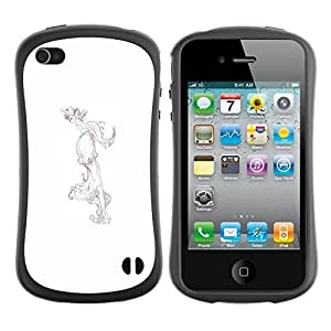 Hypernova Slim Fit Dual Barniz Protector Caso Case Funda Para Apple iPhone 4 / iPhone 4S [ Disegno]