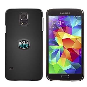 TopCaseStore / la caja del caucho duro de la cubierta de protección de la piel - Gray Teal Pc Computer Cooler - Samsung Galaxy S5 SM-G900